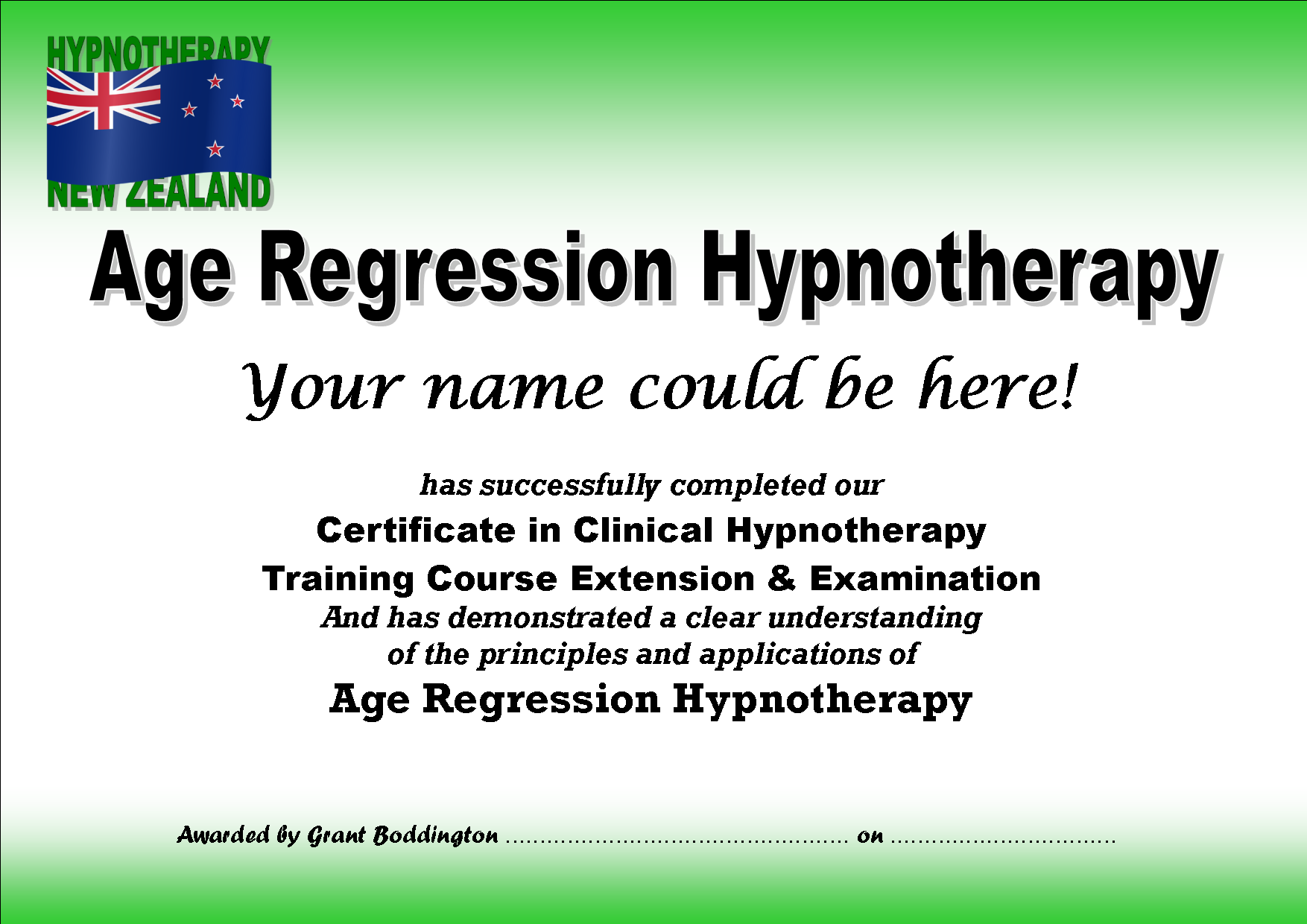 Age Regression                                       Hypnotherapy