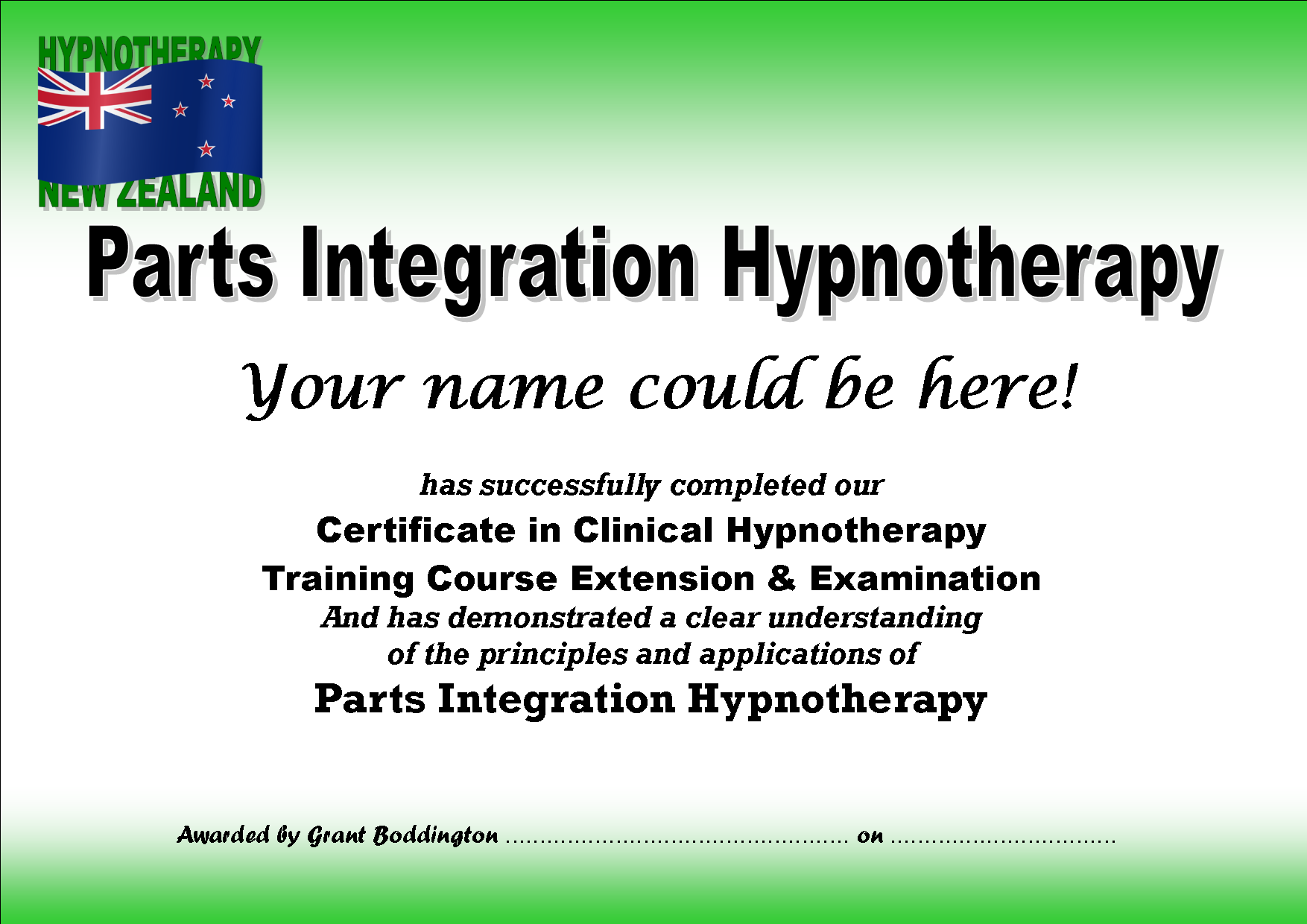 Parts Integration                                   Hypnotherapy